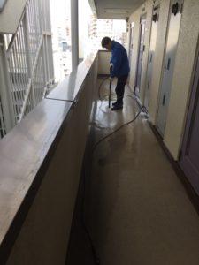 大阪市天王寺区マンション共用部の清掃